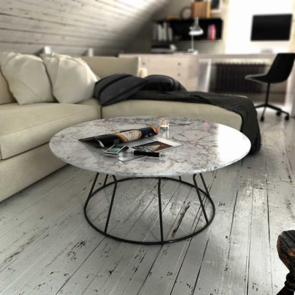 Marmore Round Side Table