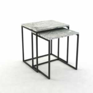 Marmore  Square Zigon Side Table