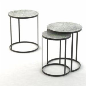 Marmore   Round Zigon Side Table