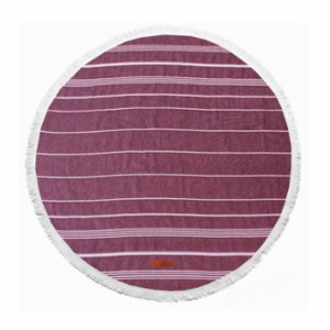 Sea Circle  Circle Burgundy Peshtemal