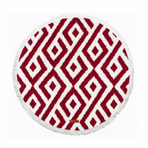 Sea Circle  Patmos Burgundy Peshtemal