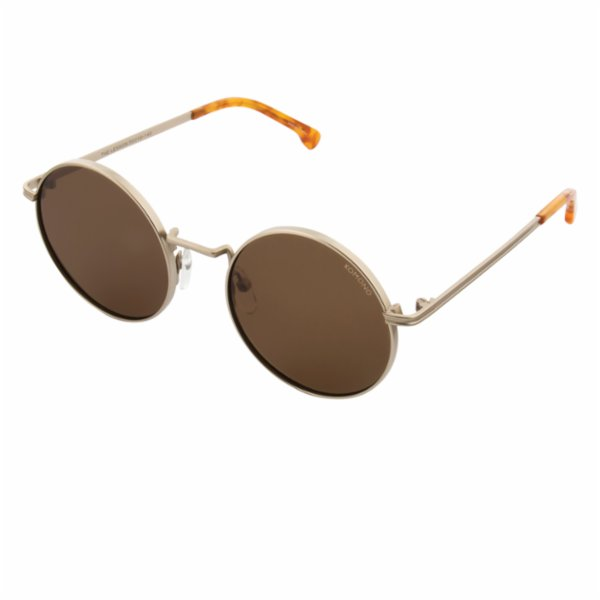Komono Lennon White Gold Sunglasses