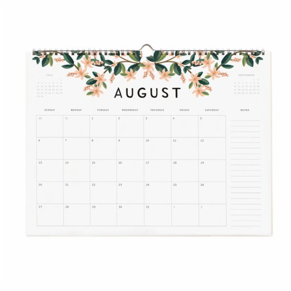 Rifle Paper Co. 2017 Appointment Wall Calendar