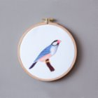 Nice to Have Giclee Hoop: Java Sparrow Frame