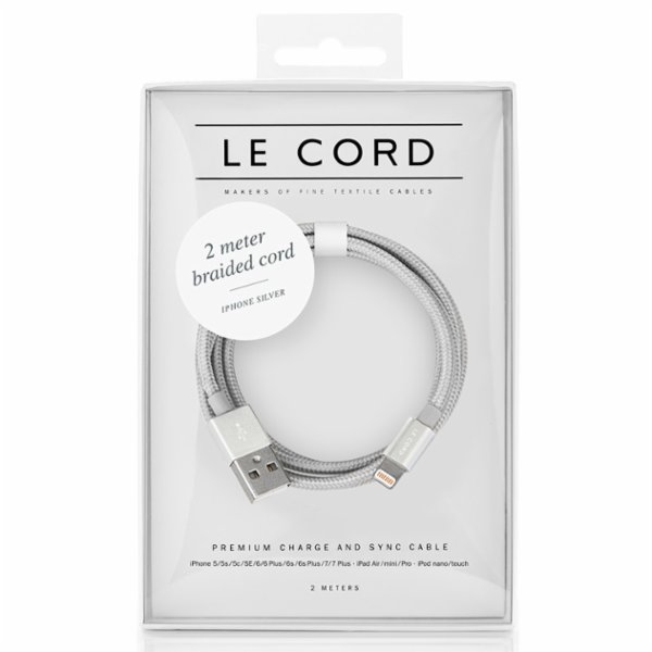 Le Cord Solid Silver - 2 Meter