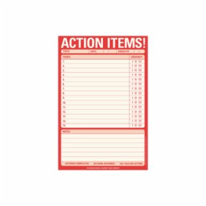 Knock Knock  Action Items! Pad