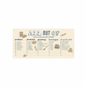Knock Knock  Hand Lettered Horizotal Pad All out of