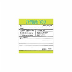 Knock Knock  HL Sticky Note: Thank You