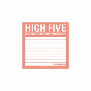 Knock Knock  Sticky Note: High Five