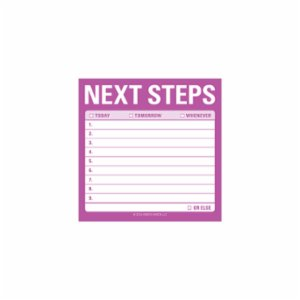 Knock Knock  Next Steps Sticky Notes