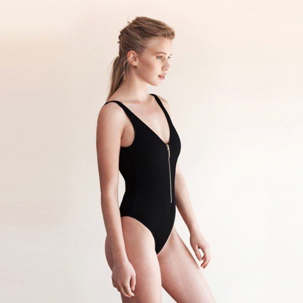 Movom	 Kiara Zipper Swimsuit