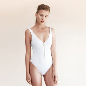 Movom	  Coconut Zipper Swimsuit