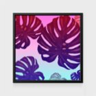 Action Zebra	 Monstera Rainbow Art Print