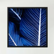 Action Zebra	  Palm Blue Art Print