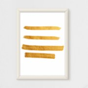 Action Zebra	  Gold 2 Art Print