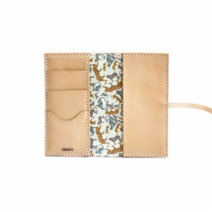 Sakin Leather	  Fabric Wallet