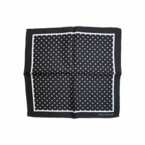 The Black Ears  The Pin-Dot Black Pocket Square