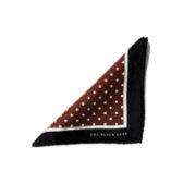 The Black Ears  The Pin-Dot Brown Pocket Square