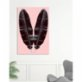 Action Zebra	 Pink Twin Art Print