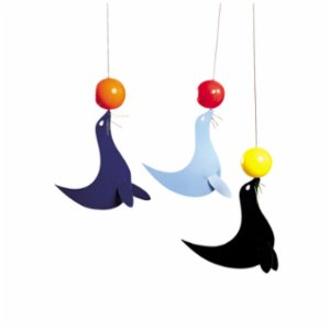 Flensted Mobiles  The 3 Happy Sealions Mobile