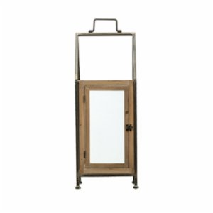 Warm Design	  Metal & Wood Lantern, Large