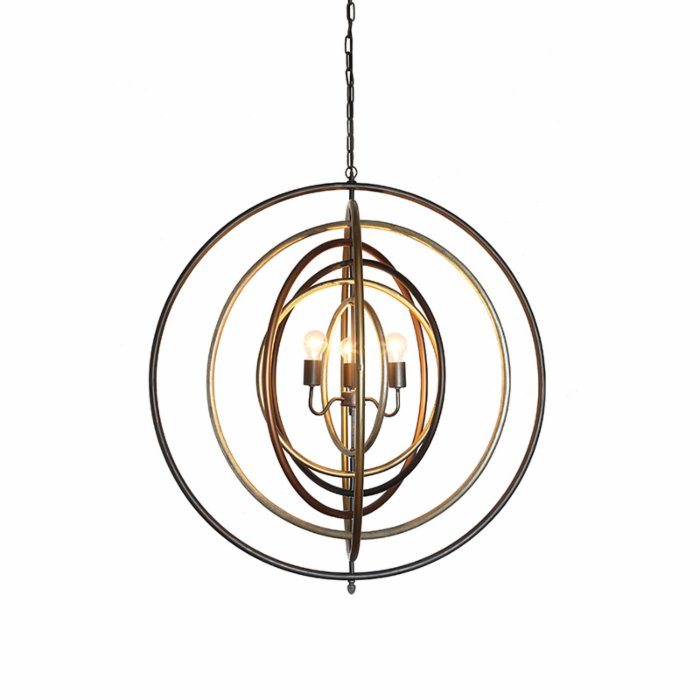 Warm Design	 Metal Ringed Pendant Lamp