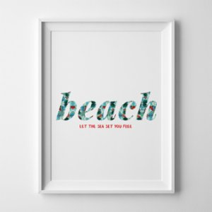 Action Zebra	  Beach Art Print