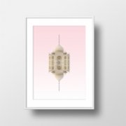 Action Zebra	  Taj Mahal Art Print