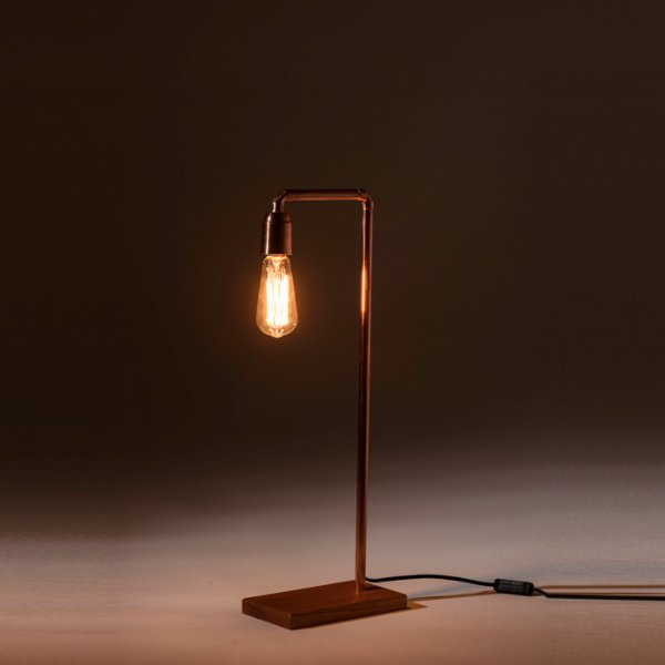 Bakır İstanbul Pipe-Up Long Table Lamp