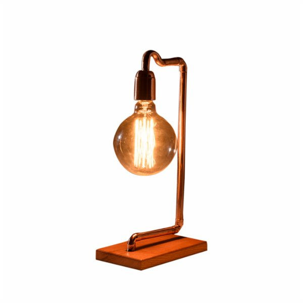Bakır İstanbul Pipe-Up Zeta Copper Table Lamp