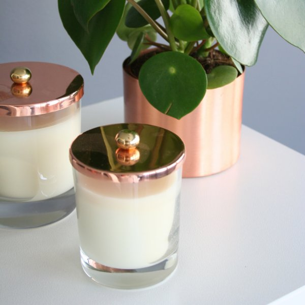 Bakır İstanbul Hurricane Copper Candle Set Of 2