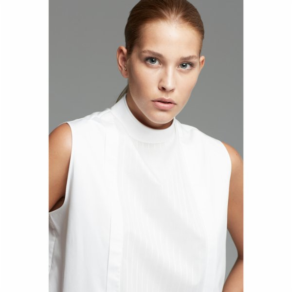 White Posture Vertical Section Shirt