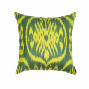 Mekhann  Ikat XVIII Silk Pillow Case - I