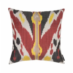 Mekhann  Ikat XIV Silk Pillow Case - IV