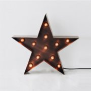 Bakır İstanbul  Marquee Sign Star Table Lamp