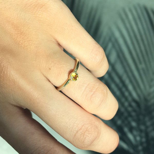 Caged Bird Design Turmaline Ring