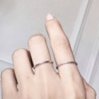 Caged Bird Design Minimal Lined Ring