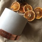 Lily's Candles  Sandalwood & Orange Concrete Natural Candle