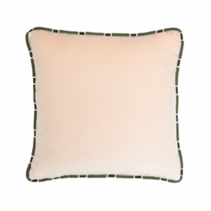 Alpaq Studio  Velvet Cushion With Snake Detailed Trim