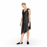 113 Studio  Asymmetric Mesh Dress