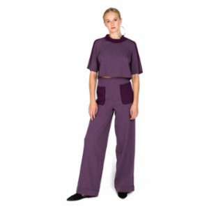 113 Studio  Chiffon Pocket Trousers