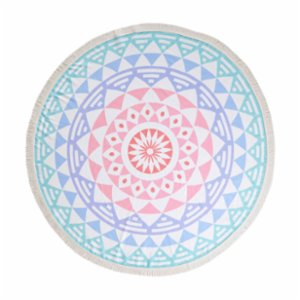 Sunday Funday  Aztec Round Beach Towel Roundie