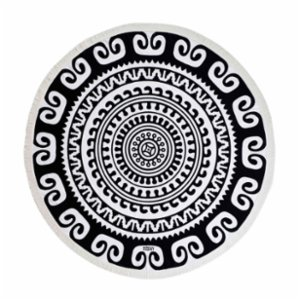 Sunday Funday  Ethnic Round Beach Towel; Roundie
