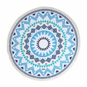 Sunday Funday  Mandala Round Beach Towel Roundie