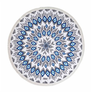 Sunday Funday  Evil Eye Round Beach Towel Roundie
