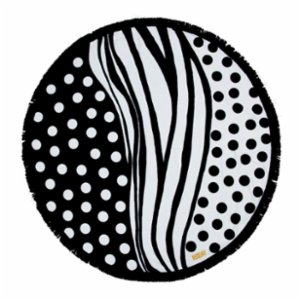 Sunday Funday  Polka Dots Round Beach Towel Roundie