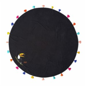 Sunday Funday  Toucan Round Beach Towel Roundie