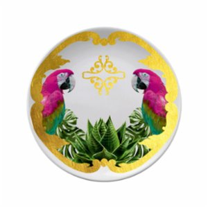 Katzze  Jungle Parrot Plate