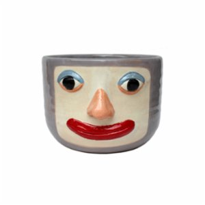 GA Ceramic  Clown Woman Planter