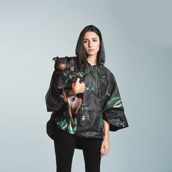 Coucou Printed Dog Raincoat